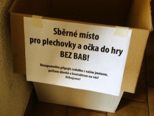 Plechovky do hry Bez bab!